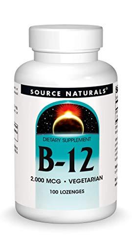 Source Naturals B-12 Sublingual, 2000Mcg, 100 Tablets