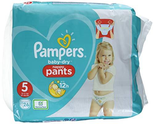 Pampers Baby-Dry Pants Größe 5, Windeln, Mit Luftkanälen, 26 Stück