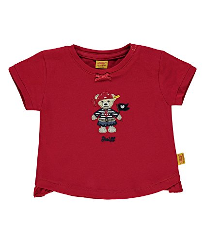 Steiff Collection Mädchen T-Shirt 1/4 Arm 6832011, Rot (Tango Red 2016), 86