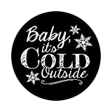 36 2.5 inch Snowflake Sticker Labels Baby It's Cold Outside