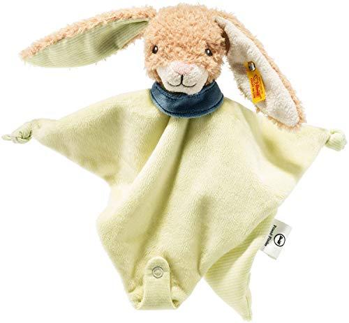Steiff Friend-Finder Knister-Hase Schmusetuch - 28 cm - Kuscheltier für Babys - weich & waschbar - beige/grün (240348)