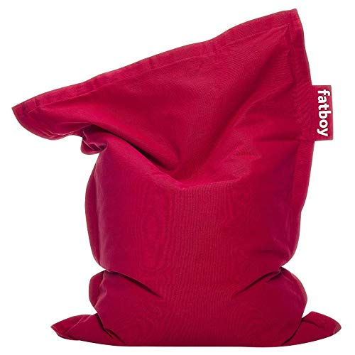 Fatboy® Junior Stonewashed rot | Original Baumwolle-Sitzsack | Klassisches Indoor Sitzkissen speziell für Kinder | 130 x 100 cm