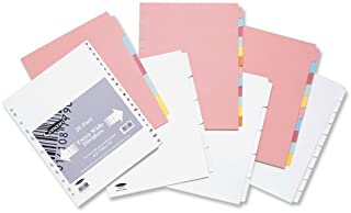 Pochettes perforées Concord Intercalaires extra large, 10pièces, format A4, couleurs assorties, 72699