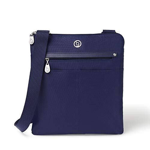 BG by Baggallini Tucson Crossbody Bag - Stylish, Lightweight, Adjustable-Strap Purse With Multiple Pockets and RFID Protection, Navy