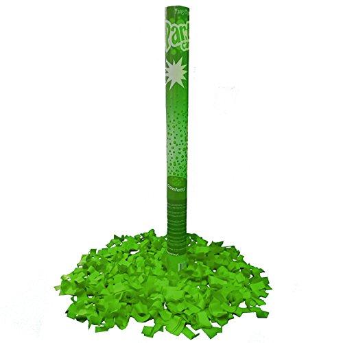 Konfettikanone farbig 60 cm Shooter Überraschung Hochzeit Knalleffekt (grün)