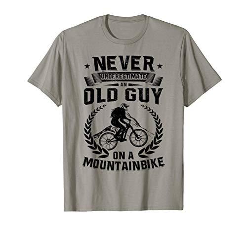 Mens MTB Cycling Biking Old Guy on a Mountain Bike Riding Gift T-Shirt