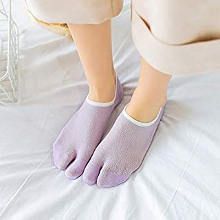 SHUHAN Fashion Clothing Toe Socks Cotton Boat Socks Invisible Women Sailboat Socks(Gray) Socks (Color : Purple, Size : One Size)