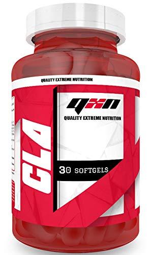 QXN New CLA suplemento quemagrasas – Ácido linoleico conjugado para aumentar tu masa muscular y contribuir en la pérdida de peso – Suplemento quema grasa para practicar deporte – 30 cápsulas softgel