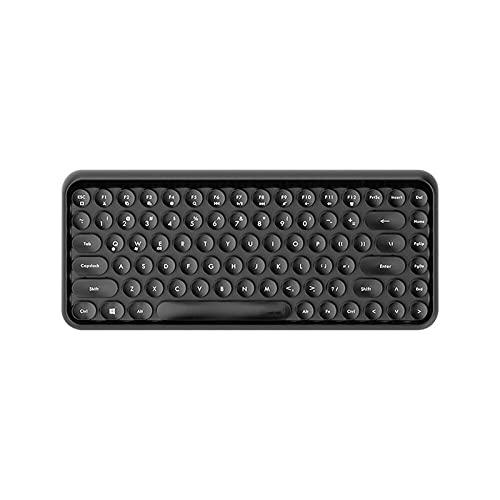 EKYJ Teclado 84-Key Lindo Teclado inalámbrico portátil Keycap 10m Adecuado para Ordenador Personal,Laptop,Cuaderno,Bluetooth Compatible para Oficina en casa, etc. (Color : Noir)