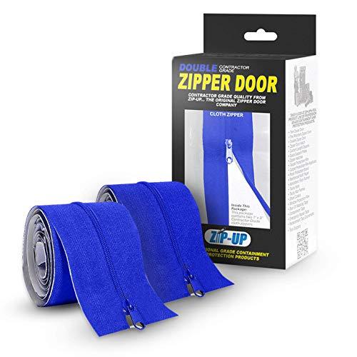 Zip-Up Products ZIP7.3BCL Peel & Stick Dust Containment Zip Barrier 7ft x 3in Zipper Door