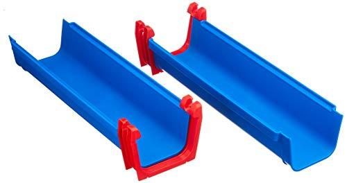 AquaPlay A101 8700000101 Recht 2 x – uitbreidingsset voor AquaPlay waterbanen, 2 x baanelement, 2 x verbindingsklemmen, 4 x rubberen afdichting, waterbaan accessoires., blauw