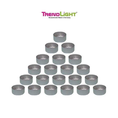 TrendLight 500 Stück Teelichthüllen leer Hüllen Alu 39x17 mm Silber zum Teelichter selbst gießen