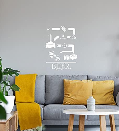 shirt84.de - Adhesivo decorativo para pared (45 x 62 cm), diseño con texto en alemán 'Der Weg des Bieres'
