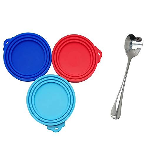 Review Of Goiio Can Covers, 3Pcs Food Can Lids,Fits All Standard Size Dog and Cat Can Tops,1Pcs Stai...