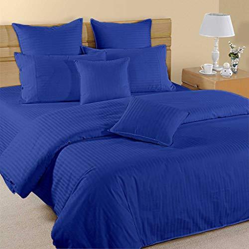 AZ COLLTECTION 900 Thread Count 1PCs Duvet Cover Stripe 100% Egyptian Cotton Premium Quality (Euro King IKEA (240 X 220) Cm, Royal Blue)