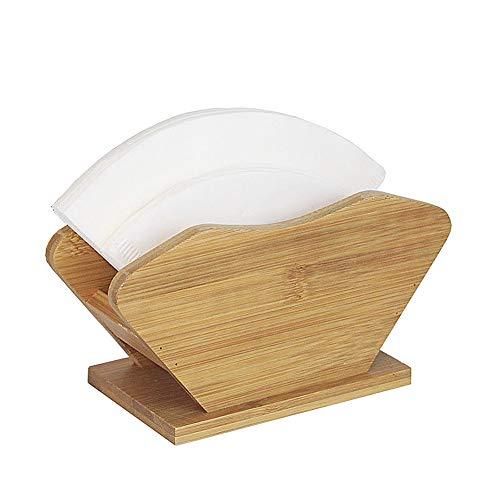 HOUSHIYU-521 100-Count Bambus Kaffee Filter Papier Halter Gestell, Hölzern Kaffee Papier Lager Container Stand Filter Papier Spender Regal Für Die Küche Kaffeestation