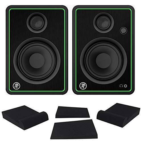 Purchase (2) Mackie CR4-X 4 Reference Multimedia Studio Monitor Speakers+Isolation Pads
