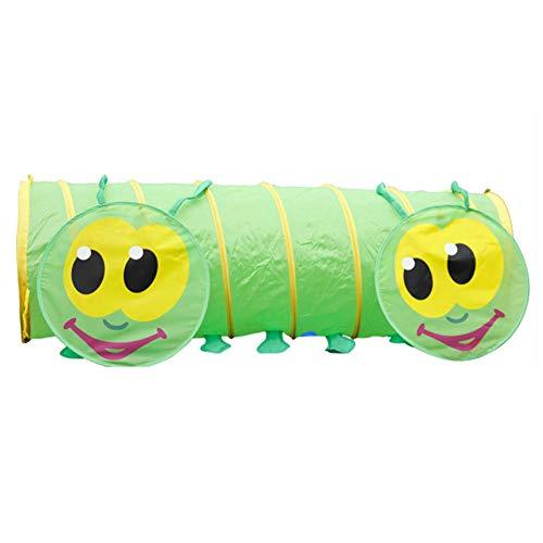 Lzww Pop Up Play Tents Crawling Tunnel Tube Oruga Verde Túnel Infantil de Tienda de Acampada para Niños Indoor Baby Toddler, 150cm