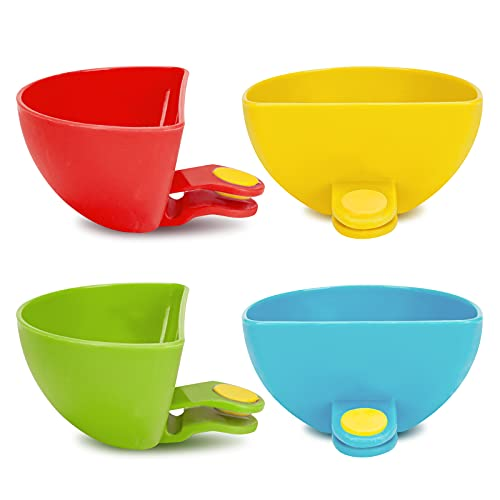 Dip Clip for Bowls Plates 4PCS Plastic Dip Clip Bowl Plate Holder Chip...