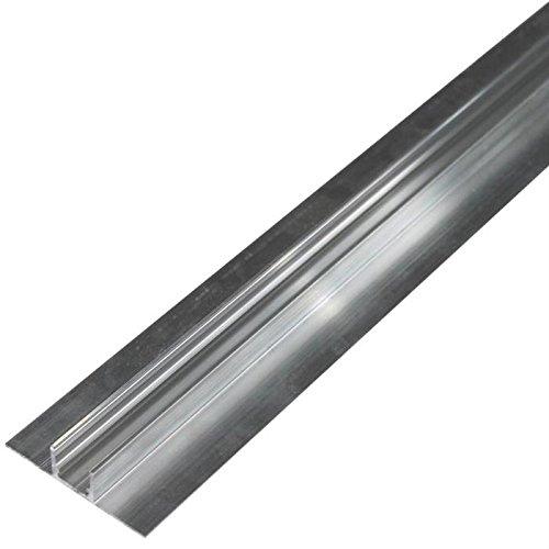 LED Alu Profil Doppelkragen für Fliesen Wand und Boden (Länge: 2m)
