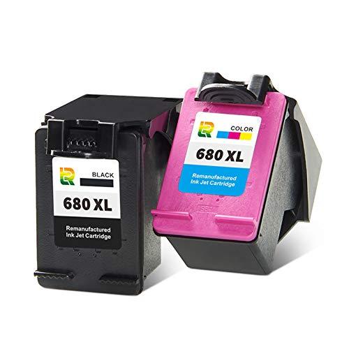 Cartuchos De Tinta 680XL,cartucho De Impresora De Inyección De Tinta Compatible Con Alto Rendimiento Para HP DeskJet 3638 3838 1118 2138 3636 4538 4678 Reemplazo Par Combination