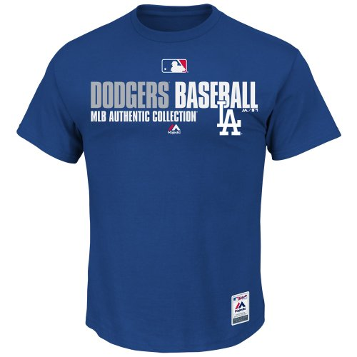 Majestic MLB Los Angeles Dodgers Authentic Collection Shirt T-Shirt Tee T Baseball Jersey Trikot (XXL)