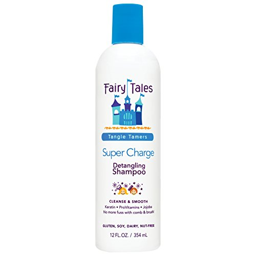 Fairy Tales Tangle Tamer Super Charge Detangling Shampoo for Kids - Paraben Free, Sulfate Free, Gluten Free, Nut Free - 12 oz