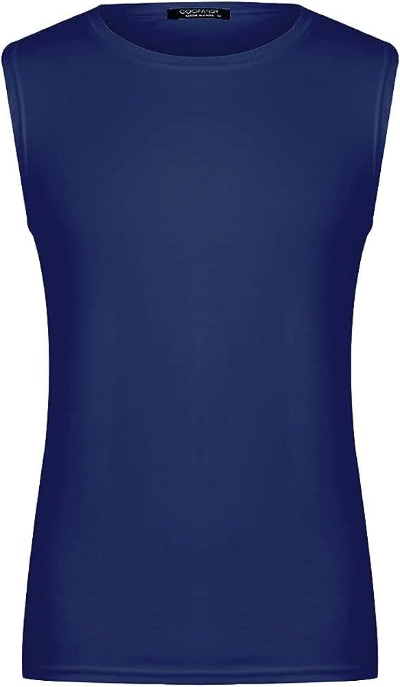 LAPA Men's Workout Tank Tops Athletic Gym Sleeveless Shirt Bodybuilding Muscle Tee Shirts Basic Tee Shirt