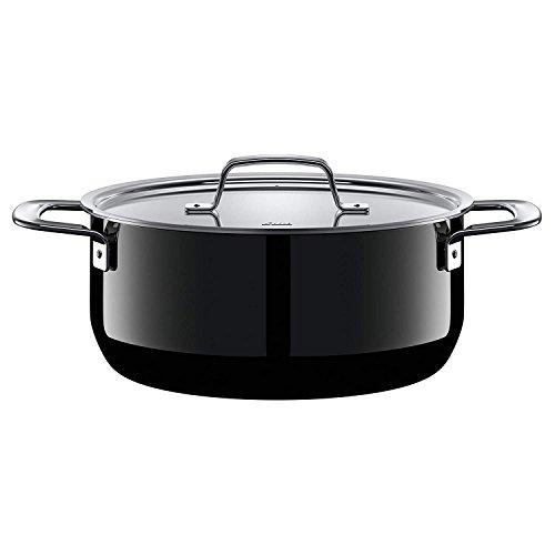 Silit Zeno Black Kochtopf 24cm, Metalldeckel, Bratentopf 4,4l, Silargan Funktionskeramik, Topf Induktion, schwarz