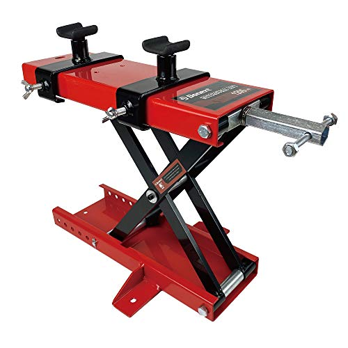 Donext 1200 LB Motorcycle Lift Center Scissor Lift Jack Wide Deck Hoist Stand with Saddle and Safety Pins Bikes ATVs Garage Repair Stand