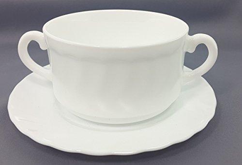 ARC INTERNATIONAL 6 tazas de sopa con platillos Trianon de 30 cl,...