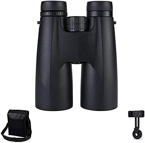XUELIAN Binoculares potentes Binoculares Impermeables Lente Prisma BAK4 de 12x50 con Soporte para teléfono Inteligente para Adultos y niños, Viajes Deportivos, portátiles