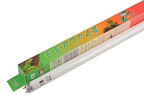 Lucky Herp 5.0 lámpara fluorescente tropical para terrario, foco UV, 18 W, T8