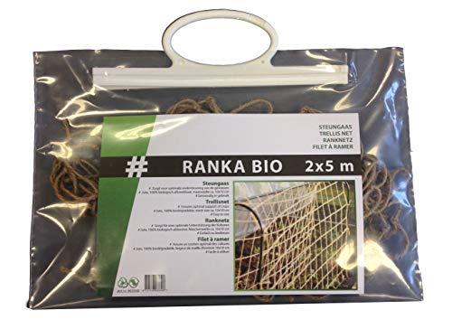 bio-garten Ökologisches Ranknetz aus Jute, 2 x 5 m