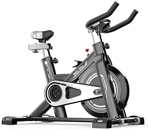 Bicicleta de ejercicio para interior con correa de volante de inercia supersilenciosa resistencia ajustable para entrenamiento en el hogar cardio, entrenamiento físico