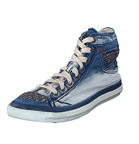 Diesel Zapatillas de Mujer Exposure IV High Top (Indigo Blue, Numeric_36)