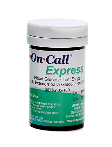On Call Express Blood Glucose Test Strips (50 Count)