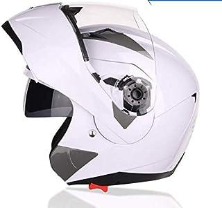 Amazon.es: Ejoyous Casco de Moto Modular con Doble Visera