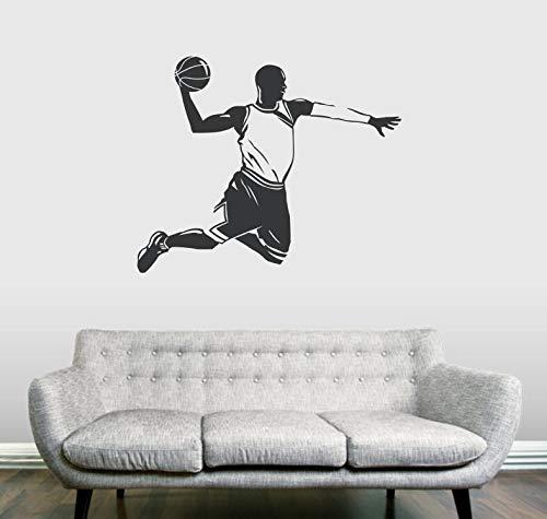 BailongXiao Pop Sport Kunst Aufkleber Basketball Spieler Wandaufkleber Wohnkultur Wohnzimmer benutzerdefinierte Farben erhältlich Vinyl Wandaufkleber 68x56cm