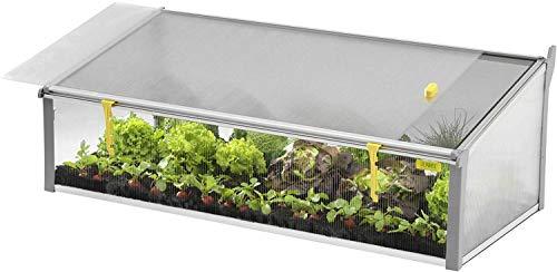 Juwel Ganzjahres-Beetsystem Bio-Protect 130/60 (Frühbeet mit Wetter- & Insektenschutz, BPA frei, 126x58x40/30 cm), grau