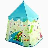Floving Carpa Infantil Dinosaurio Princesa Castillo Jugar casa yurta Interior (biue)