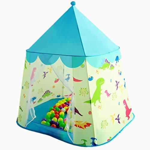 Floving Children's tent dinosaur princess castle play house indoor yurt (blue)