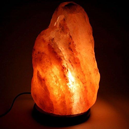 BOSALLA Lampada di sale con CERTIFICATO DI GARANZIA Salgemma dell\'Himalaya 1,5 - 2 kg