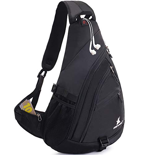 "JSDing Sling Rucksack Herren Damen | Brusttasche Sling Bag Sport Grosse Kapazität 14\"" Laptop | Umhängetasche Schulterrucksack Fahrradrucksäcke Cross Bag für Outdoor Wandern Bergsteigen Reisen"