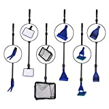 nuoshen Fish Tank Cleaning Kit, 6 in 1 Aquarium Glass Tank Cleaning kit Algae Cleaning Tool with Gravel Rake, Algae...