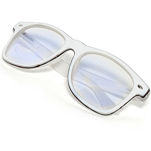 MFAZ Morefaz Ltd Damen Herren Lesebrille +1.0 +1.5 +2.0 +2.5 +3.0 +3.5 +4.0 Blue Light Filter Brille Blendschutz, Kratzfestes Objektiv Computer TV Anti Glare (2.00 Anti Glare, White)