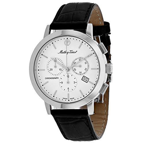MATTHEY-TISSOT Reloj de pulsera para hombre, de acero inoxidable, cuarzo, color negro, 18 años (modelo: clásico)