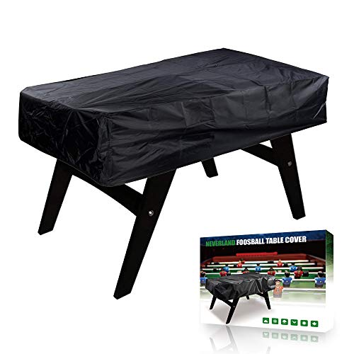 NEVERLAND Football Table Cover 300D Oxford Outdoor Footsball Billiard Sun UV Dust Protect Black Heavy Duty Indoor 63 x 45 x 19.7inch (No Waterproof )