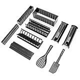 Easyeeasy 10 unids / set fácil de usar DIY Sushi Maker Molde de arroz Cocina Juego de herramientas para hacer sushi para rollo de Sushi Gadget de cocina