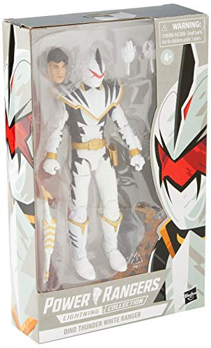 Power Rangers Lightning Collection Dino Thunder White Ranger 15-cm Premium Collectible Action Figure Toy for Ages 4 and Up with Accessories
